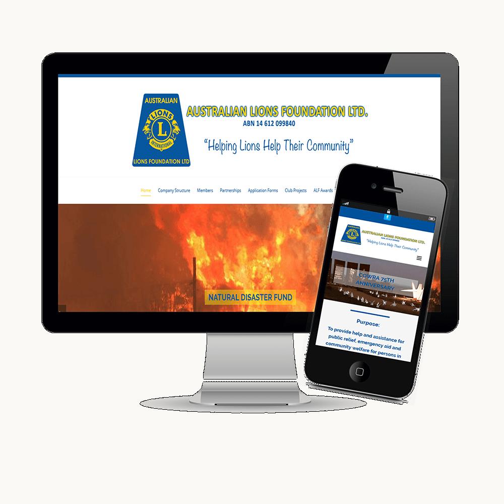Australian LIons Foundation website
